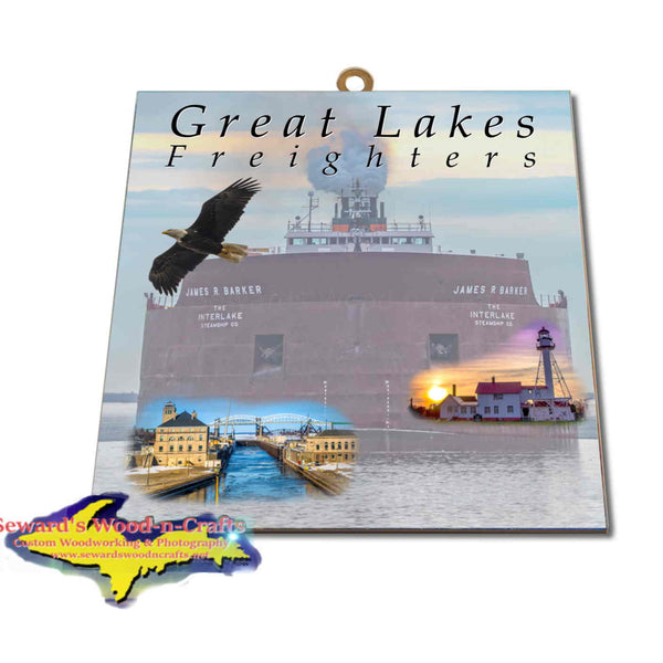 Great Lakes Freighters Hanging Art James R Barker Photo Tiles, Prints, Gifts & Collectibles