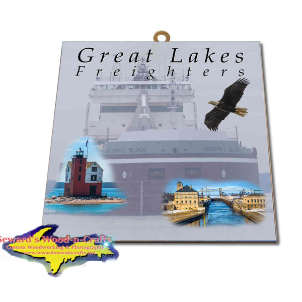 Great Lakes Freighters Hanging Art Joseph Block Photo Tiles, Prints, Gifts & Collectibles