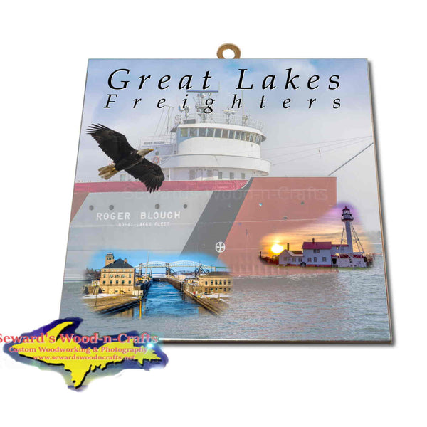 Great Lakes Freighters Hanging Art Roger Blough Photo Tiles, Prints, Gifts & Collectibles