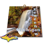 Michigan Made Artwork Michigan's Upper Peninsula Keweenaw Peninsula Hungarian Falls Photo Tile