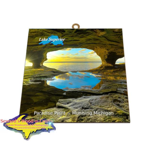 Paradise Point Cave PhotoTile Inexpensive Pictured Rocks gifts