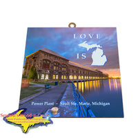 Love is Michigan on these Michigan theme memes word art tiles