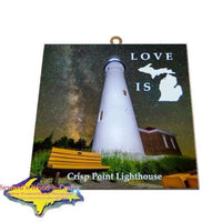 Michigan's Upper Peninsula Gifts & Collectibles Crisp Point Lighthouse Great Priced Wall Art