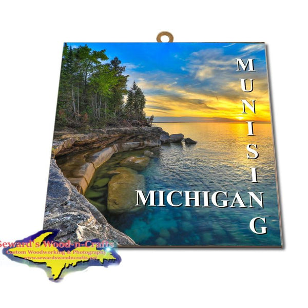 Michigan Made Artwork Michigan's Upper Peninsula Munising Michigan Photo Tile YooperGifts.Com