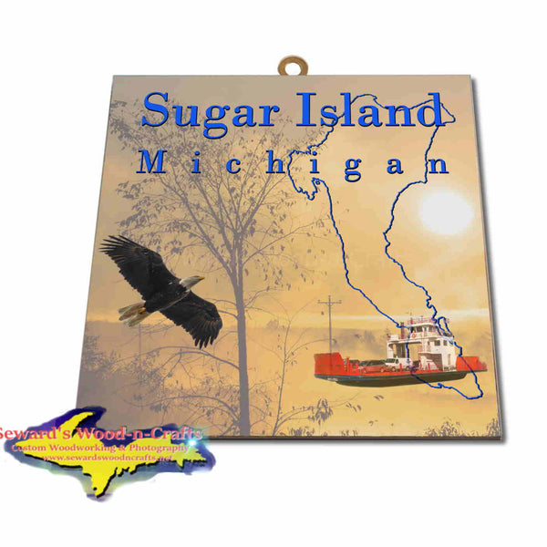 Michigan Made Artwork Sugar Island Michigan Sunrise Hanging Photo Tiles