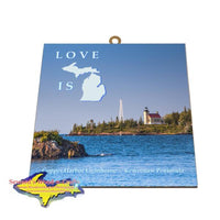 Copper Harbor Lighthouse Photo Tile Michigan's Upper Peninsula Gifts