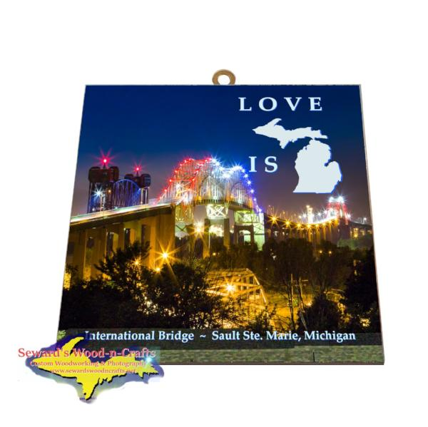 Gifts From Sault Michigan International Bridge Photo Tile Meme