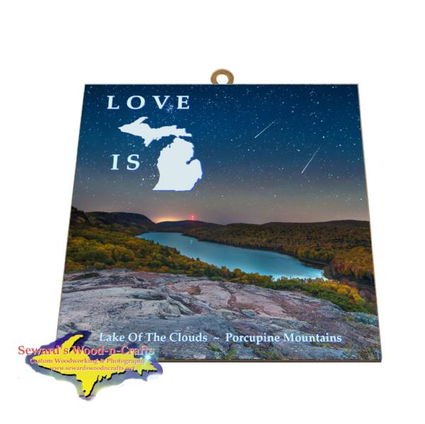 Lake Of The Clouds Photo Tile Michigan's Upper Peninsula Gifts And Collectibles