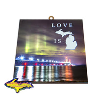 Mackinaw Bridge -3833 Northern Lights Wall Art