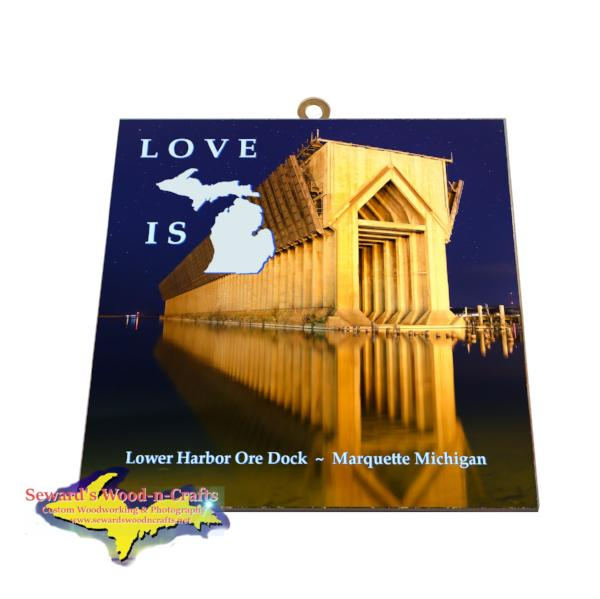 Marquette Michigan Gifts & Collectibles Ore Dock Photo Tiles