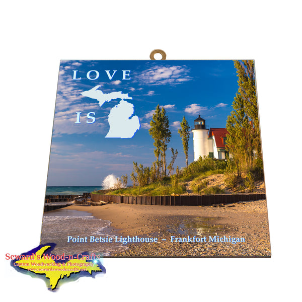 Point Betsie Lighthouse Gifts & Collectibles Photo Tiles At Great Prices