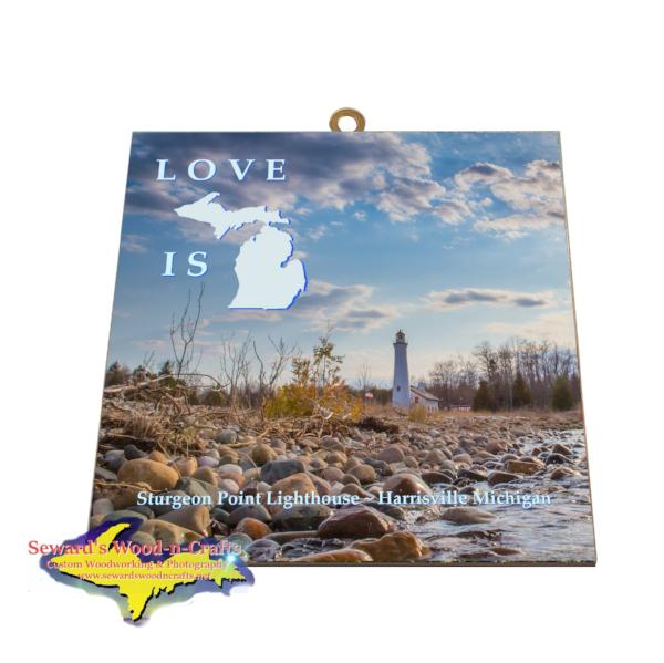 Sturgeon Point Lighthouse Harrisville Michigan Gifts Wall Art