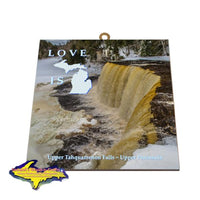 Upper Tahquamenon Falls Hanging Photo Tiles Michigan Made Gifts & Collectibles