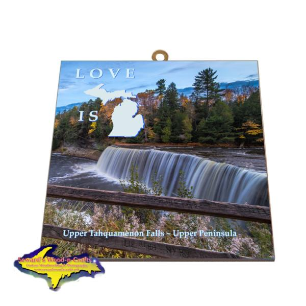 Upper Tahquamenon Falls Photo Tiles Best priced Michigan Gifts