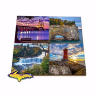 Michigan Coaster Sets Upper Peninsula Images