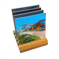 Michigan coasters Sets of Mackinac Island scenery on a wood base