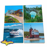 Michigan Coasters Sets of Mackinac Island scenery for great gift ideas