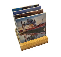 Michigan Coasters Sets of Sugar Island Ferry scenery on a wood base