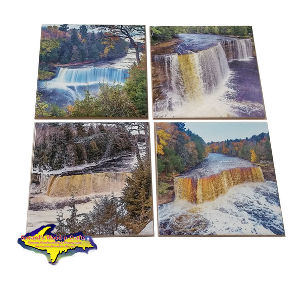 Michigan Coasters with Michigan's Finest Photos Of Tahquamenon Falls