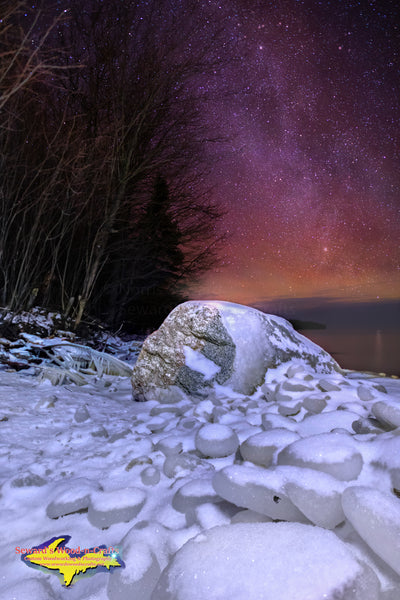 Michigan Landscape Photography Milky Way Over Whitefish Bay Lake Superior