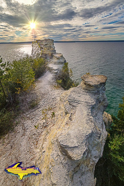 Michigan Landscape Photography Miners Castle Michigan's Upper Peninsula Pictured Rocks Photo Home And Office Decor