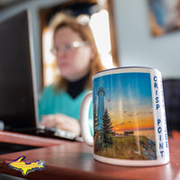 Crisp Point Lighthouse Michigan's Upper Peninsula Coffee Cup/Mug