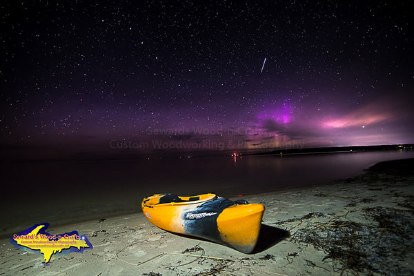 Michigan Landscape Photography  Kayaking with the Northern Lights Lake Michigan Photos