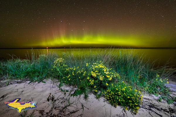 Michigan Landscape Photography Northern Lights Lake Superior Artwork For Sale