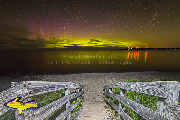 Northern Lights Lake Superior Michigan Landscape Photography