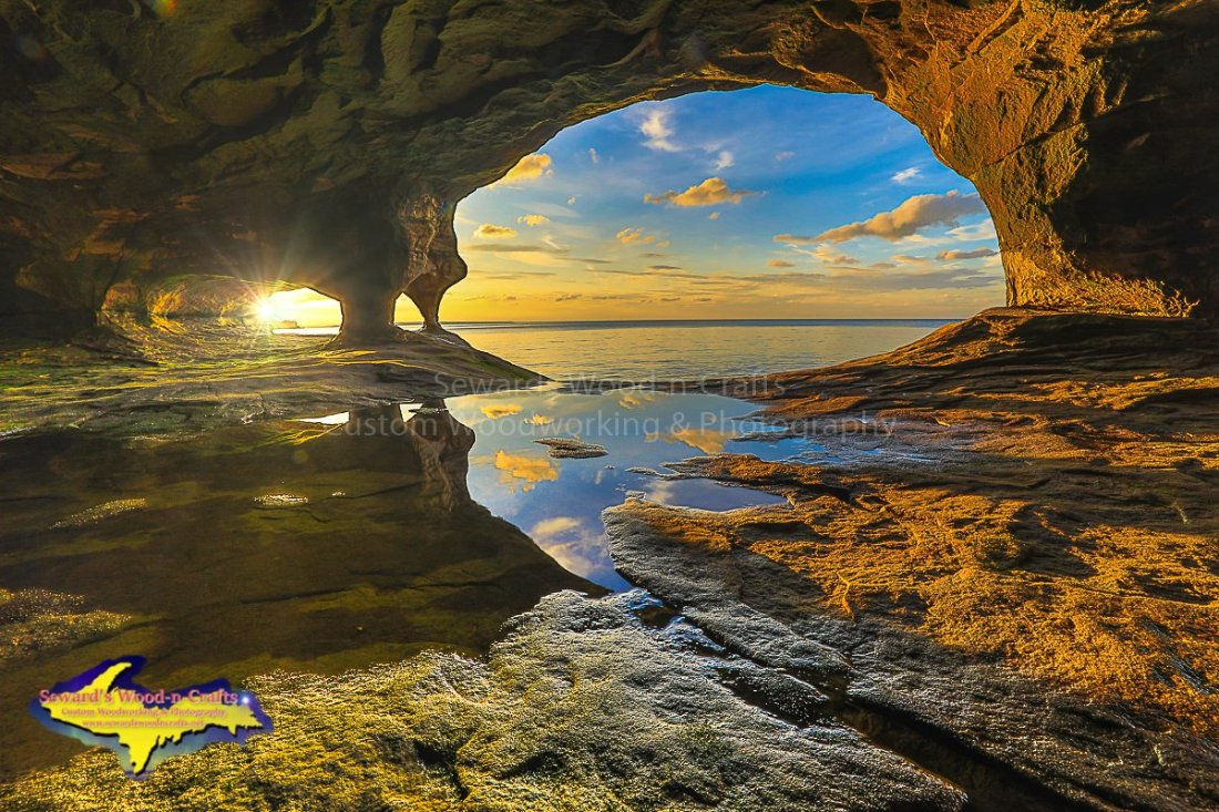 Pictured Rocks Caves Michigan Photography 1843 Seward S
