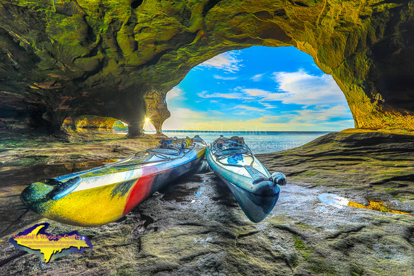 Pictured Rocks Caves Kayak -1794 Exploring Michigan