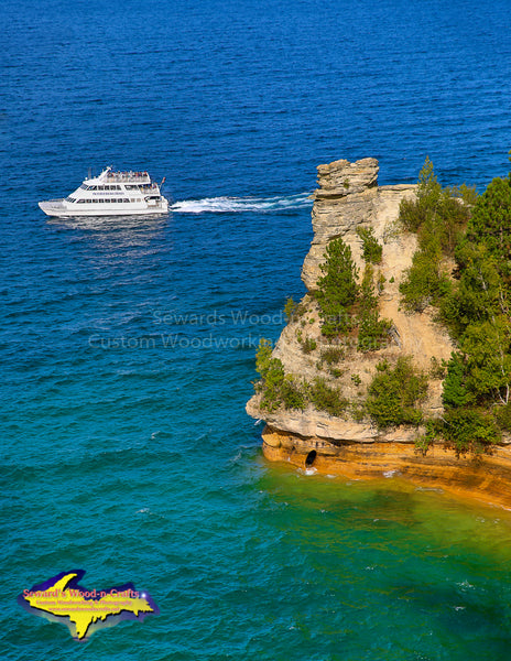 Miners Castle Michigan's Upper Peninsula Pictured Rocks Boat Cruises Photo