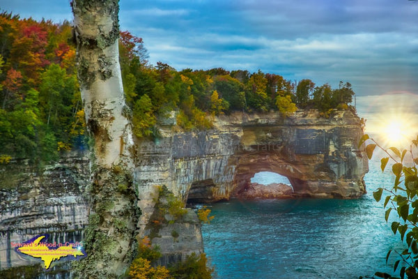 Michigan Landscape Photography Grand Portal Pictured Rocks National Lakeshore Art For Home Office Decor