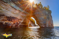 Michigan Photography Lovers Leap Sunburst Pictured Rocks National Lakeshore