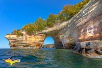 Michigan Landscape Photography Lovers Leap Autumn Colors Munising, Michigan Pictured Rocks Photos