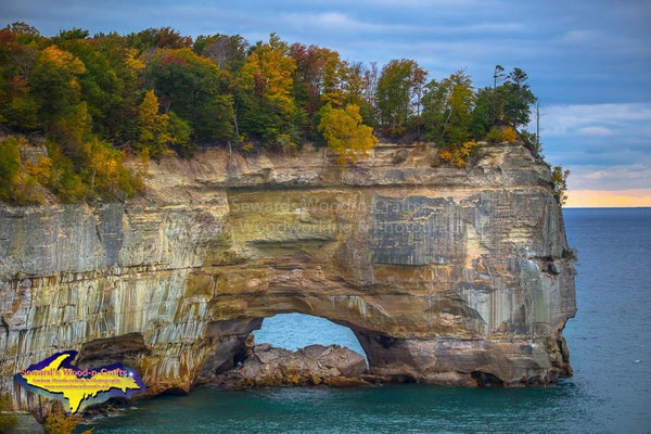 Michigan Upper Peninsula Photos Pictured Rocks National Lakeshore Grand Portal Image Autumn Colors