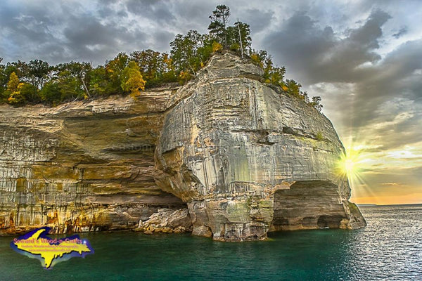 Grand Portal Sunset Pictured Rocks Photo Michigan Upper Peninsula Photography