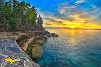 Michigan Landscape Photography Pictured Rocks Sunset at Paradise Point Munising, Michigan