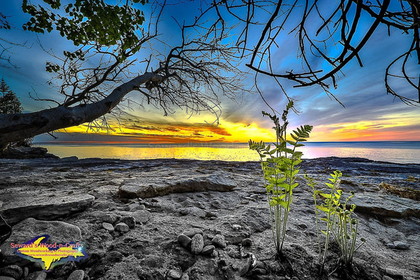 Michigan Landscape Photography Pictured Rocks Paradise Point Sunset