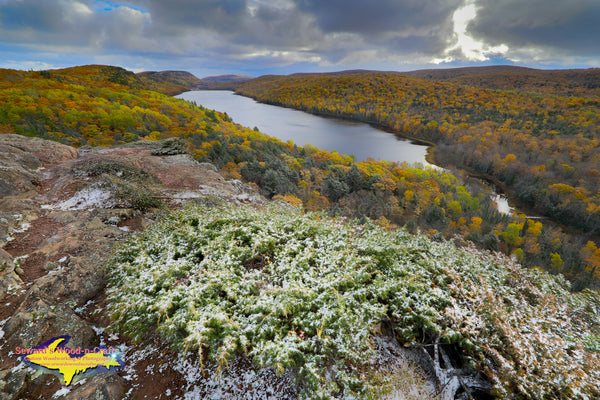 Michigan Landscape Photography Autumn Colors & Snow Lake Of The Clouds Porcupine Mountains