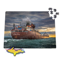 Great Lakes Freighter Puzzles M/V Hon James L Oberstar Jigsaw Puzzle for Boatnerd & Ship fans