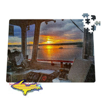 Michigan Jigsaw Puzzles Sugar Island Ferry Sunrise Sault Michigan Puzzle