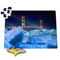 Michigan Made Jigsaw Puzzle Mackinac Blue Ice 252 pc 11x14 Puzzles
