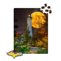 Michigan Puzzles Crisp Point Lighthouse Full Moon