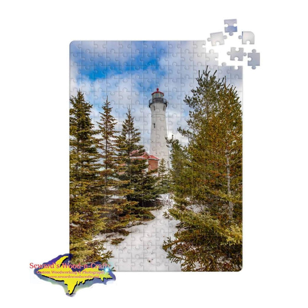 Michigan Jigsaw Puzzle Crisp Point Lighthouse Winter Pines