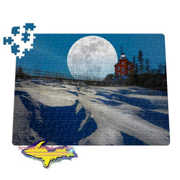 Michigan Made Jigsaw Puzzle Super Snow Moon Marquette Michigan