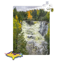 Michigan Jigsaw Puzzle Eagle River Waterfalls Keweenaw Peninsula Michigan Gifts
