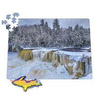 Waterfalls Upper Tahquamenon Winter 252 pc 11x14 Jigsaw Puzzles
