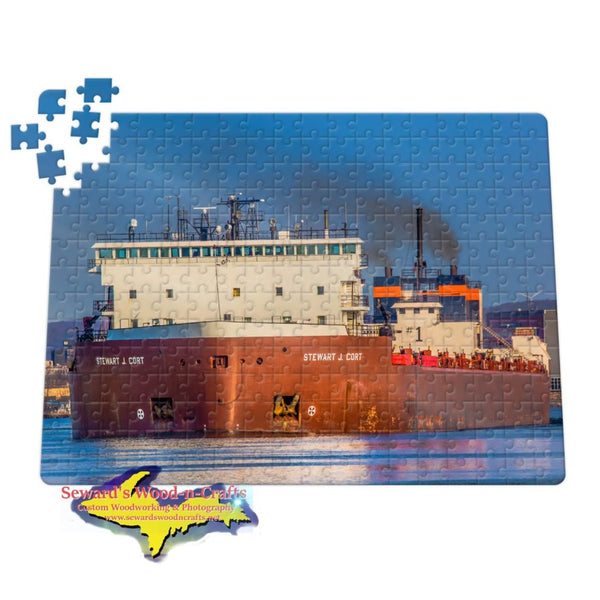 Michigan Jigsaw Puzzles M/V Stewart J Cort Great Lakes Freighter Puzzle