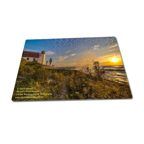 Michigan Puzzles 252 Piece Betsie Lighthouse Sunset Michigan's Lighthouse Photography For Sale